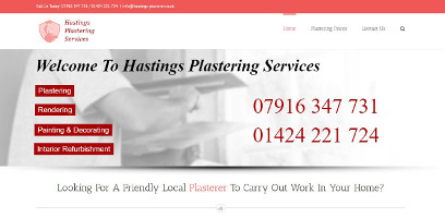 Web Design Hastings Plastering Services