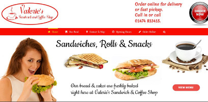 Content Management System for Valeries Sandwich Shop