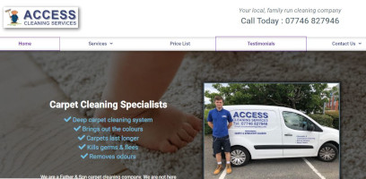 Wordpress website design for Eastbourne carpet cleaning company.
