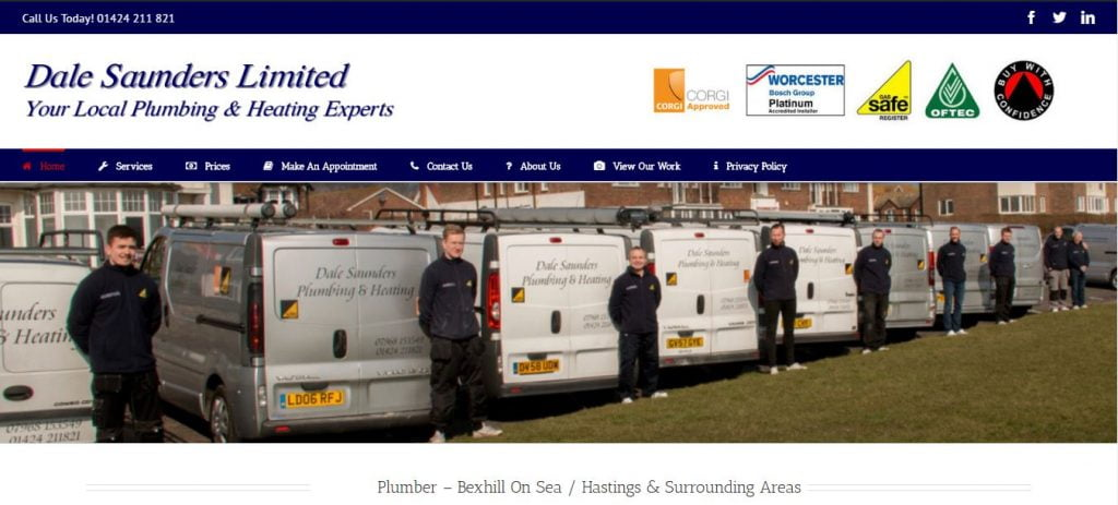 Dale Saunders LTD Website