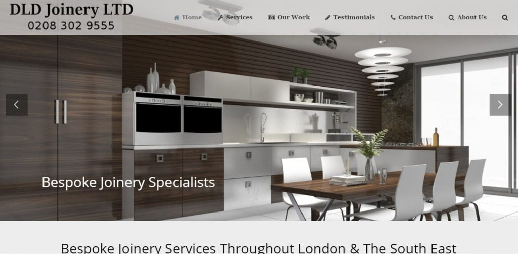 DLD Joinery website