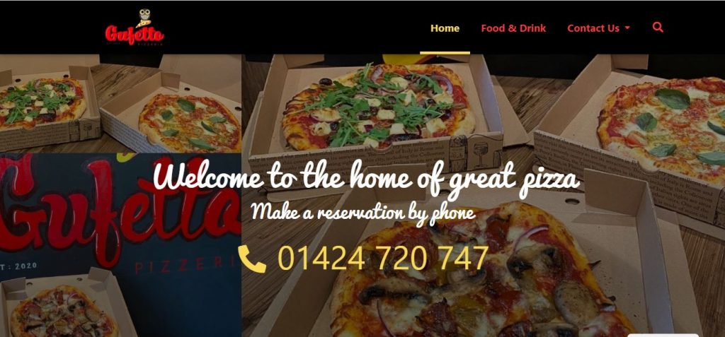 Gufetto Pizzas Website