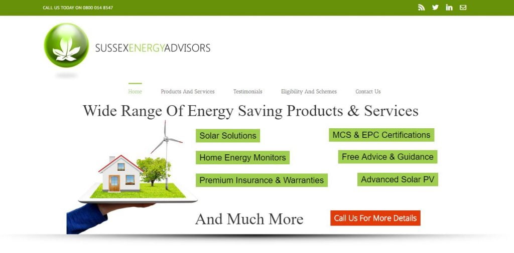 Sussex Energy Advisors Website