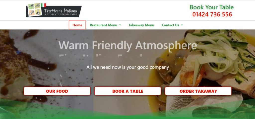Trattoria Italiana Website